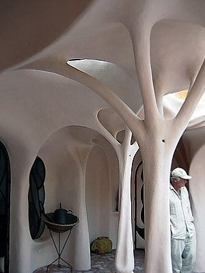 Fantastic! Sculpturistic styling in a cob home.  This would be great in a porch  or entrance area.
