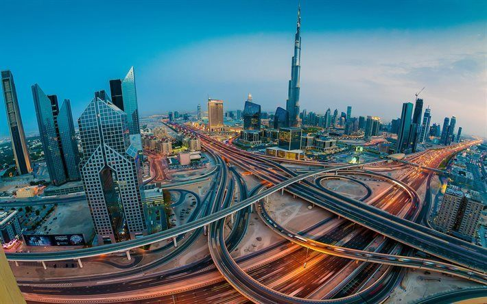 Scarica sfondi Dubai, panorama, EMIRATI arabi uniti, moderno, architettura, grattacieli, Emirati Arabi Uniti