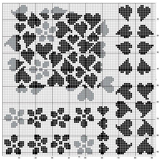 valentijn harten voor geschenken: geborduurde patronen - ambachten ideeën - knutselen voor kinderen
