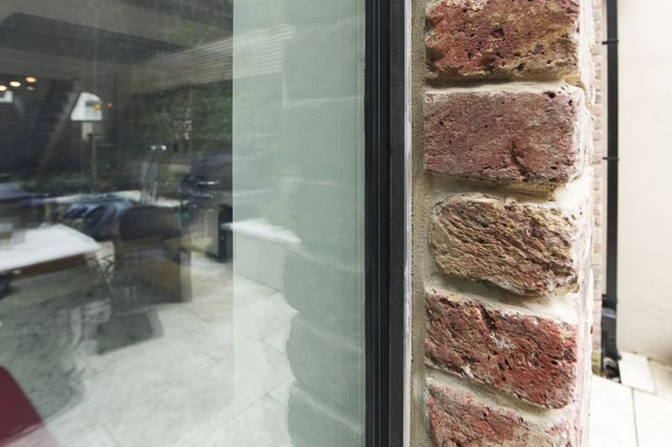 glass and brick detail