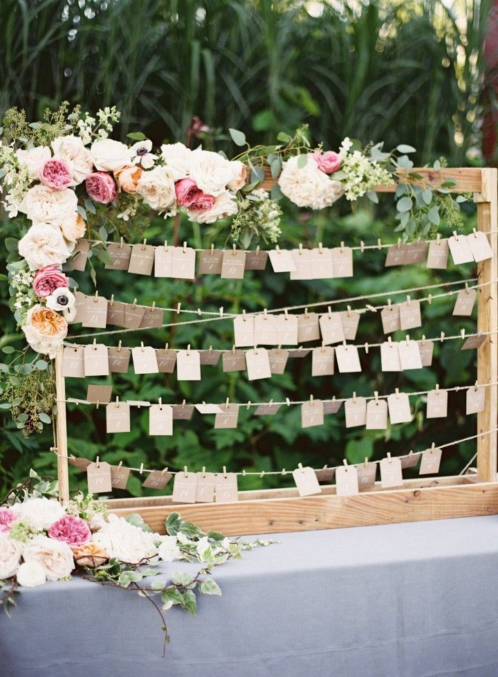 wedding escort card idea; Judy Pak Photography