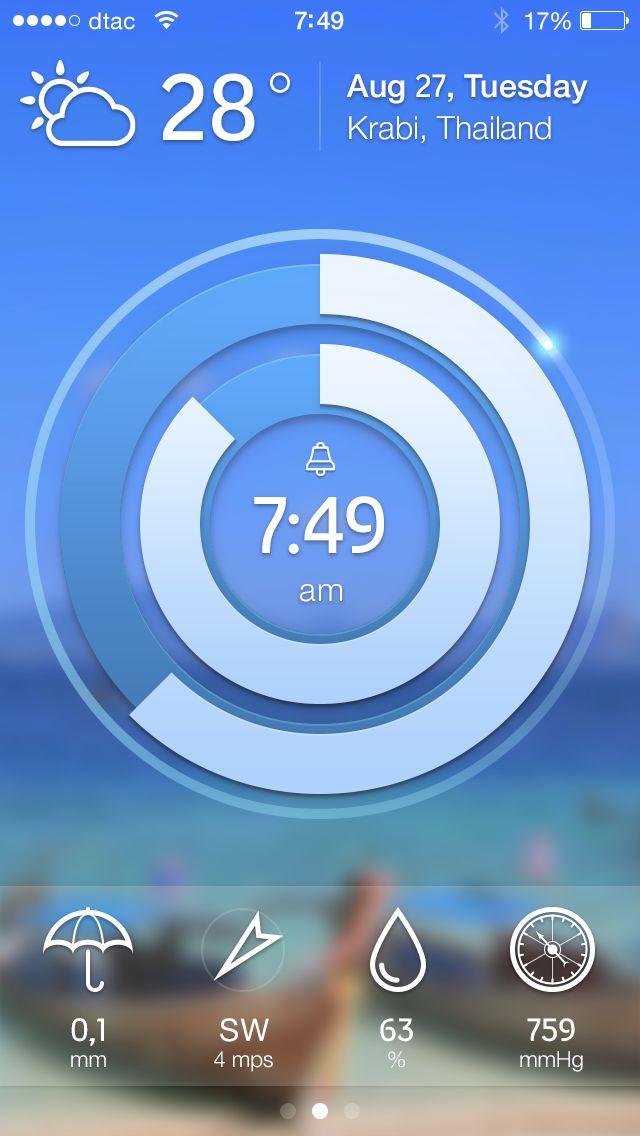 RClock iPhone Interface - by Dmitriy Mokeev | #ui #ios