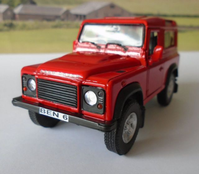 Personalised Plates Red Land Rover Defender