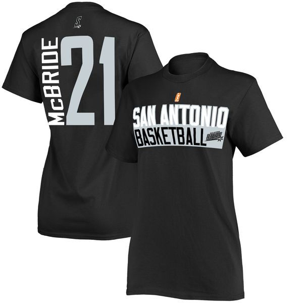 Kayla McBride San Antonio Stars Women's Name & Number T-Shirt – Black - $23.99