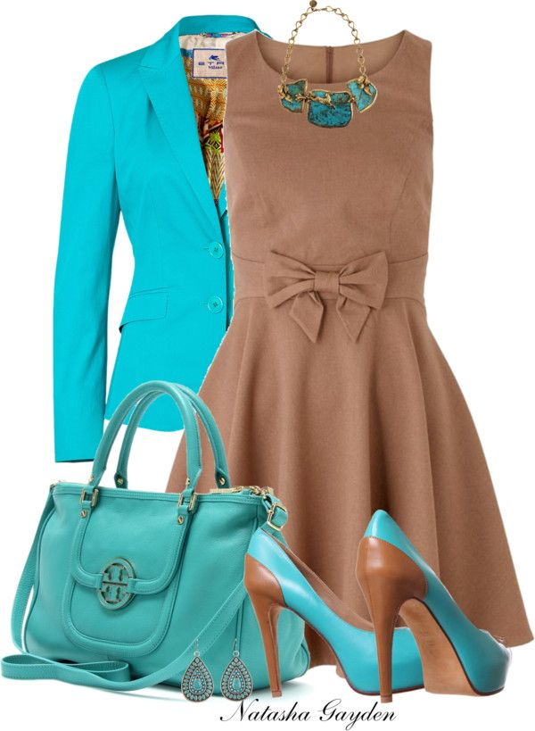 """Caramel and Turquoise"" by natasha-gayden on Polyvore"
