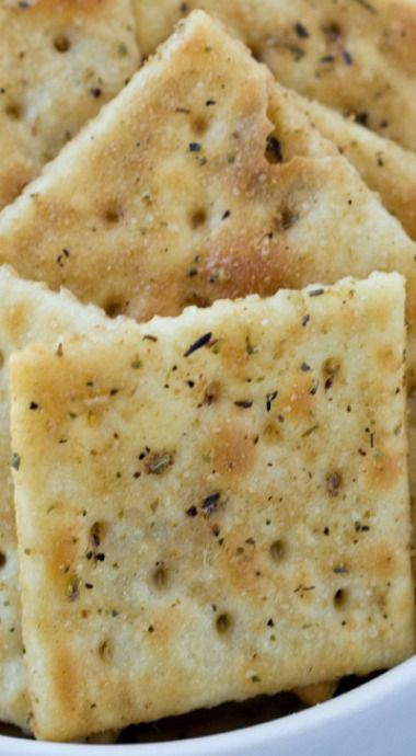 Savory Italian Seasoned Crackers