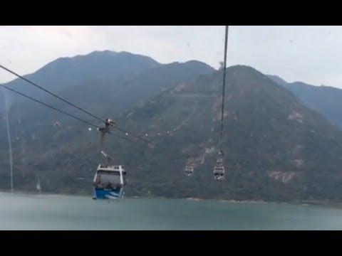 """Ngong Ping 360 """"Crystal Cabin"""" ride to Ngong Ping Village, Hong Kong (Co..."""