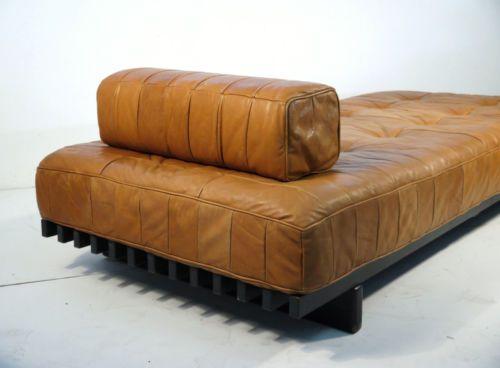 Original Vintage De Sede Ds 80 Leather Daybed Sofa
