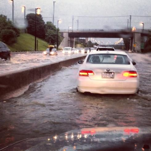 Roads underwater in Toronto after floods, July 2013 Posted by floodlist.com