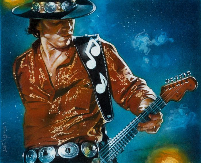 Stevie Ray Vaughan by JeffLafferty   | First pinned to Celebrity Art board here... http://www.pinterest.com/fairbanksgrafix/celebrity-art/ #Drawing #Art #CelebrityArt