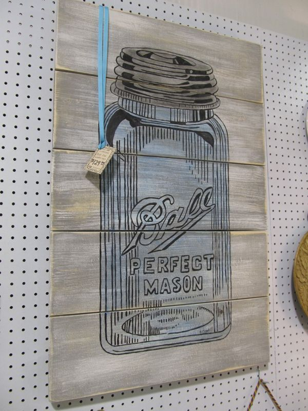 First A Dream: My Favorite Sign So Far - The Ball Mason Jar  *Not a tutorial, just a picture