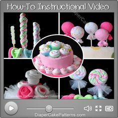 How to Make Washcloth Lollipops Video Tutorial – Round Style | Diaper Cake Patterns & Videos