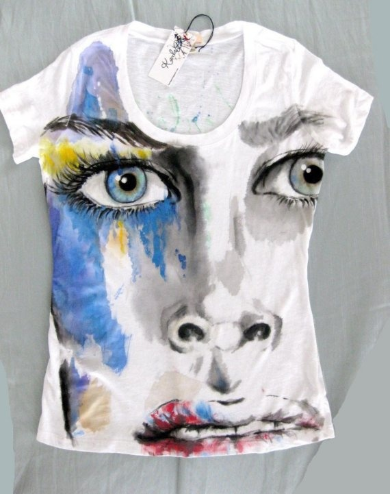 Art by Karla Hand Painted tshirt / Make a fashion by karlapl, $48.00