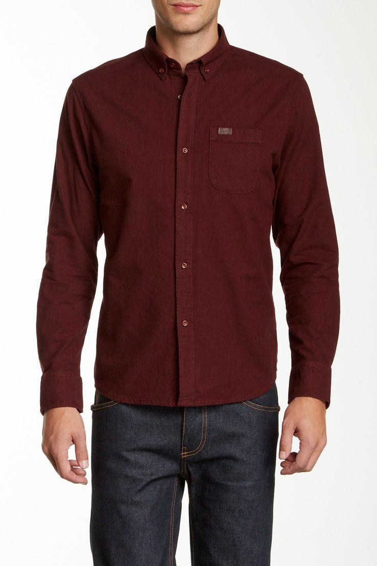 Marshall Artist Classic Oxford Shirt: Burgundy