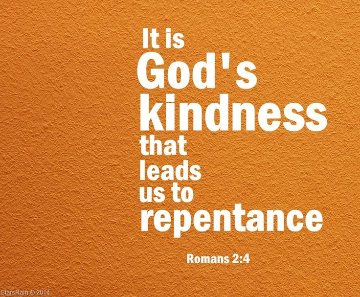 Image result for god's goodness leads to repentance