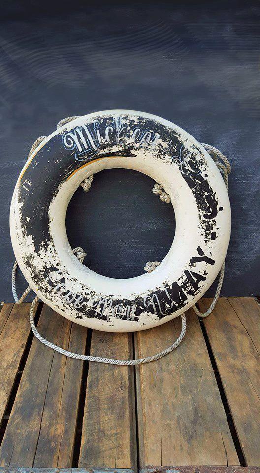 Vintage Life Preserver Ring, Rustic Ring Buoy, Nautical Home Decor by ElisabethMacBeth on Etsy