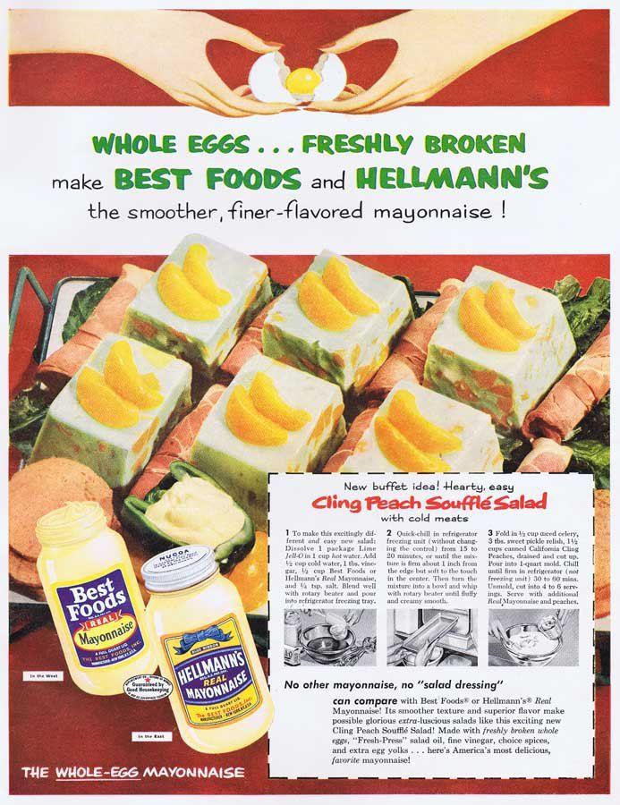 McCalls 1953 Cling Peach Souffle Salad