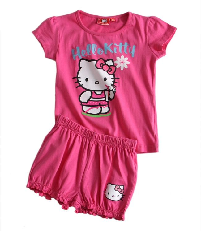 Piżamka dziewczęca Hello Kitty. Więcej markowych ubranek na http://markoweubranka.pl/