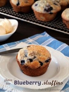 """Gluten Free Blueberry Muffins {America's Test Kitchen """"The How Can it Be Gluten Free Cookbook"""" Review and Giveaway}"""