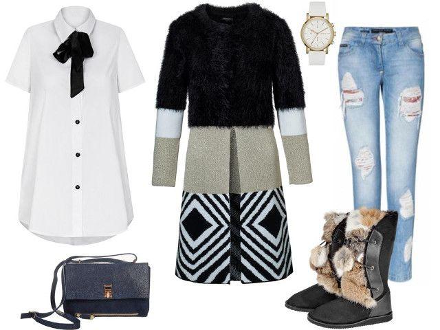 Koszula- Mosquito, spodnie- Philips Plein/Catwalk, torba- Boca, buty- Gena, sweter- CristinaEffe, zegarek- Tkmaxx