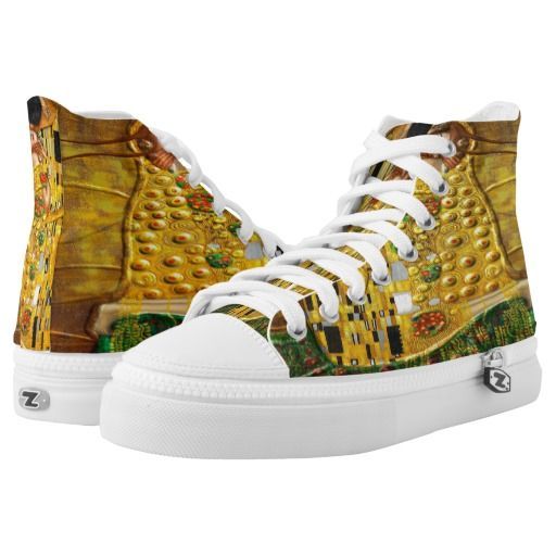 My Klimt Serie:The Kiss Printed Shoes