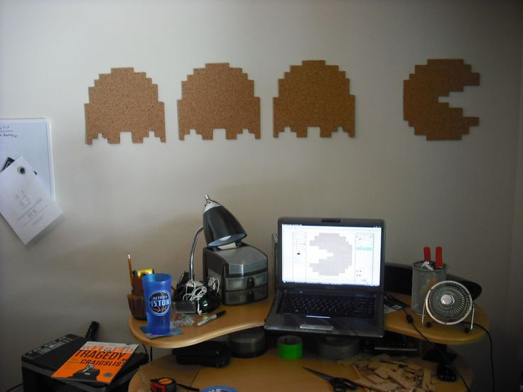 pac man cork board - with instructions