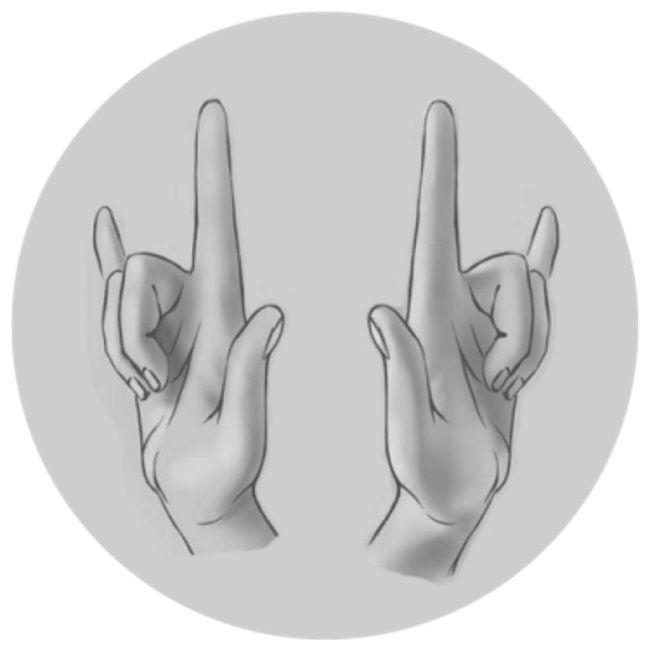 Мудра для обретения любви Хочешь стать настоящим магнитом любви? Это мудра как раз для тебя! Практиковать ее особенно полезно тем, кто находится в поиске второй половинки или сильно страдает от одиночества.Прижми подушечки средних и безымянных пальцев обеих рук к ладоням. Остальные пальцы направь вверх. Подними локти на уровень груди и, закрыв глаза, находись в таком положении не менее 2–3 минут.