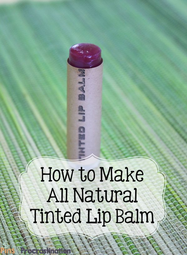 All natural (including the coloring) homemade tinted lip balm recipe