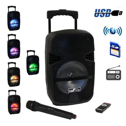 beFree Sound 8 Inch Portable Bluetooth PA Speaker System