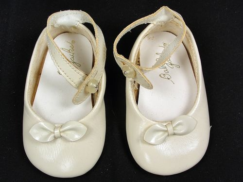 vintage baby jacks shoes white faux patent leather