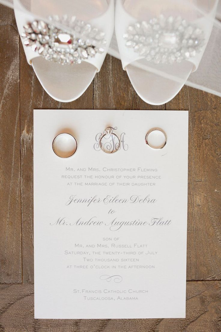 sample wedding invitation letter for uk visa%0A Classic ivory wedding invitation for modern wedding in Birmingham  Alabama