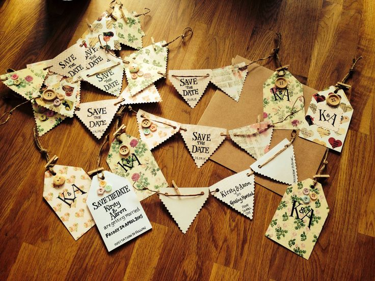 Bunting save the dates