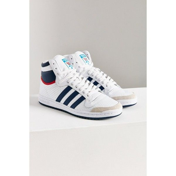 adidas Originals Top Ten Hi High Top Sneaker ($80) ❤ liked on Polyvore  featuring