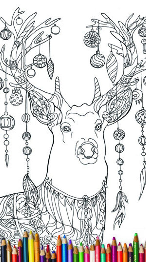 Christmas Coloring Pages Zentangle 20 Pdf Digital Stamp Etsy Christmas Coloring Pages Printable Christmas Coloring Pages Coloring Pages