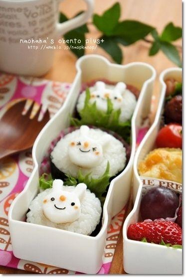 型抜きはんぺんうさぎのお弁当♪ by naohahaさん | レシピブログ ...