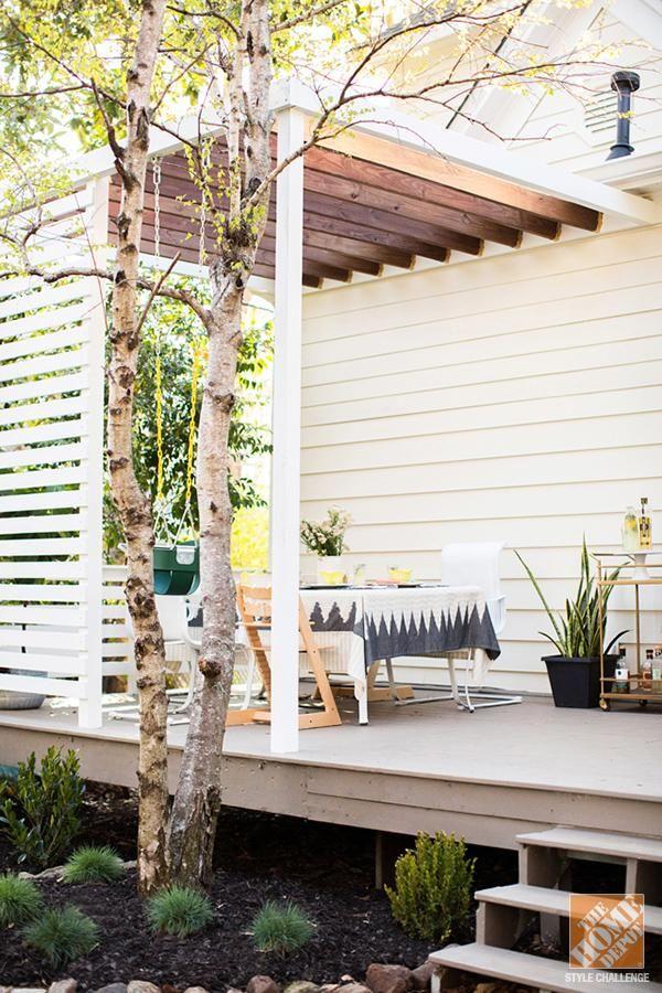 patio decor ideas a modern family friendly deck the home depot - Home Depot Patio Designs