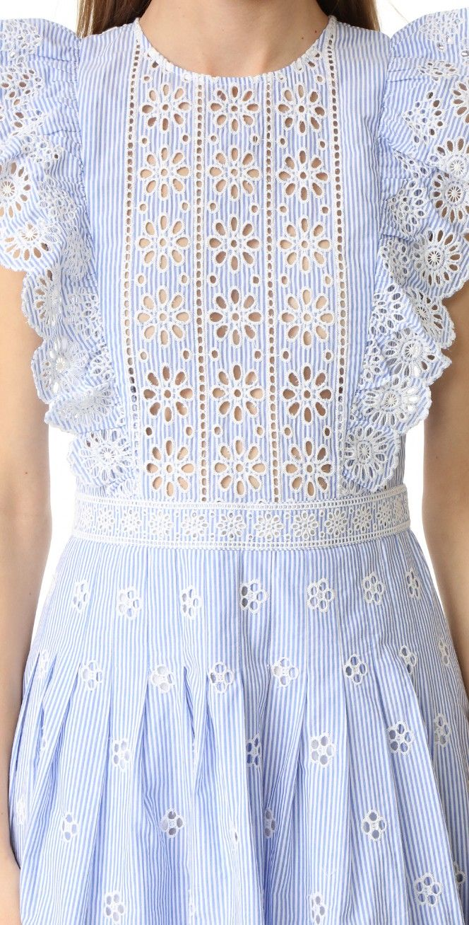 Sea Ruffled Eyelet Dress | SHOPBOP