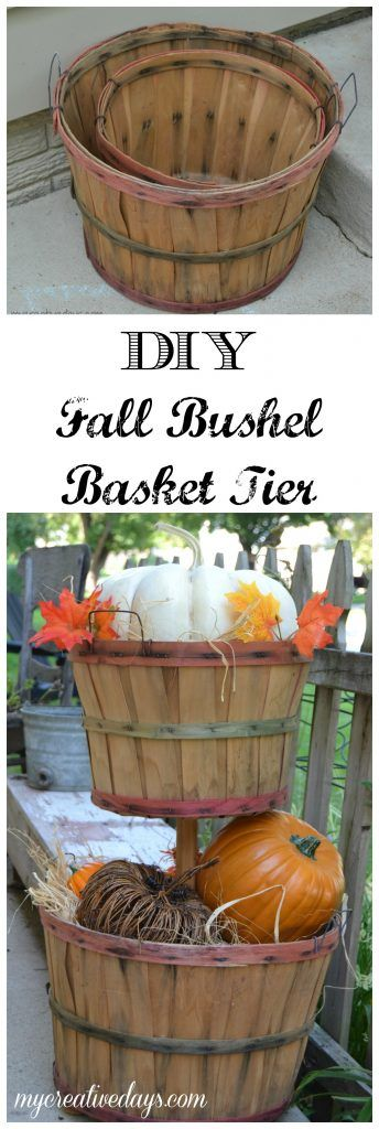 Upcycled Fall Bushel Basket Tutorial