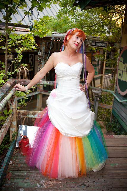 A modern day rainbow brite bride.