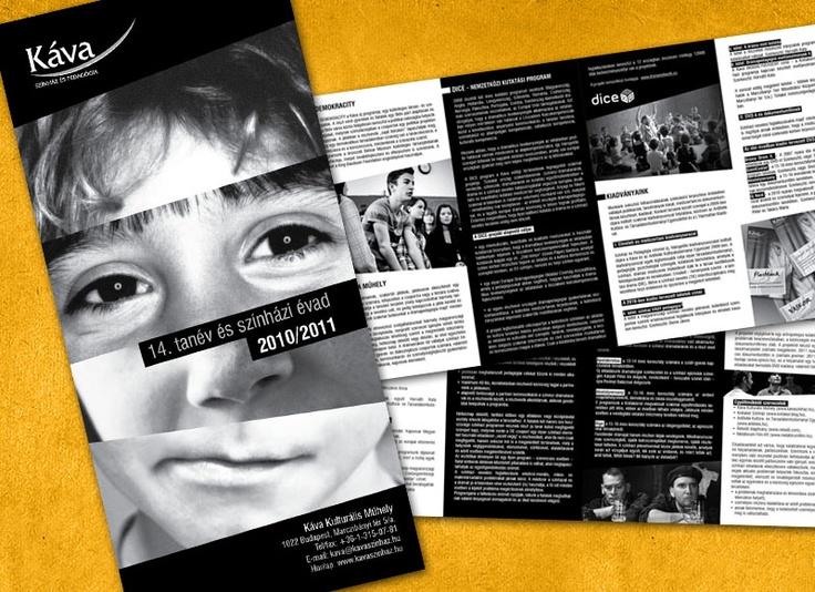 Leaflet for Káva theatre.