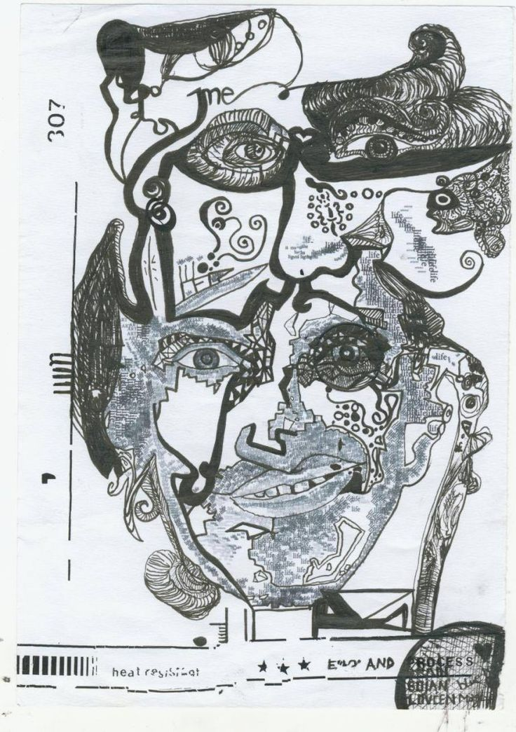 Ink on print paper 2009