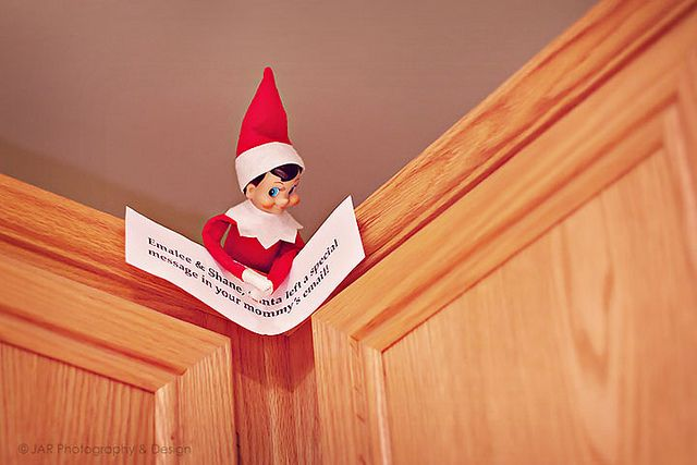 """elf: """"there's a special message in your Mama's e-mail.""""  Cute for the North Pole/Santa video..."""