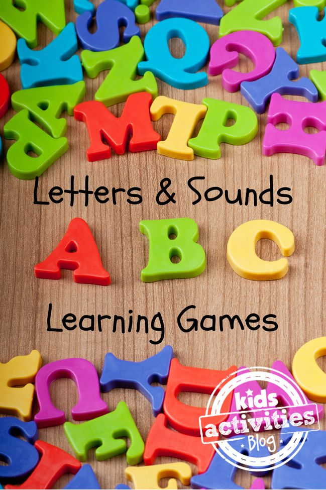 Help your kids learn letters and their sounds with these really fun games.
