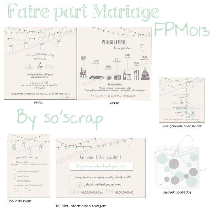 faire part invitation mariage avec programme pictogramme wedding cake voiture cocktail diner dcoration - Texte Faire Part Mariage Champetre
