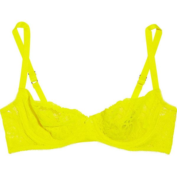 Deborah Marquit Giardino di Fiori Italian lace underwired bra ❤ liked on Polyvore