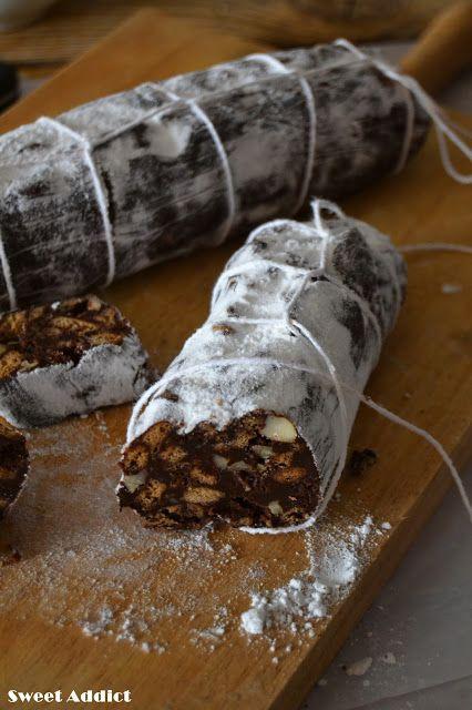 Salchichón de chocolate http://www.sweetaddict.es/2016/01/salami-de-chocolate.html