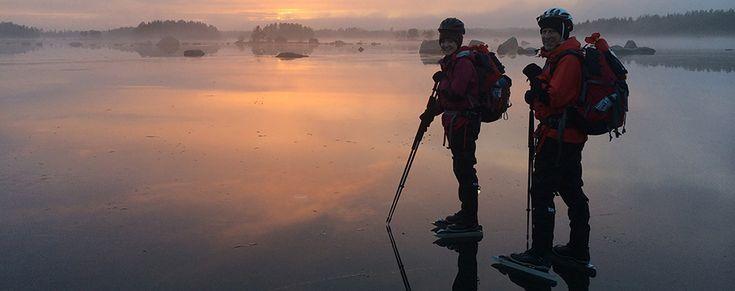 Stockholm - long distance ice skating