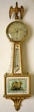 Simon Willard, and John Doggett,  Bridal patent timepiece,  Roxbury, Massachusetts, circa 1805