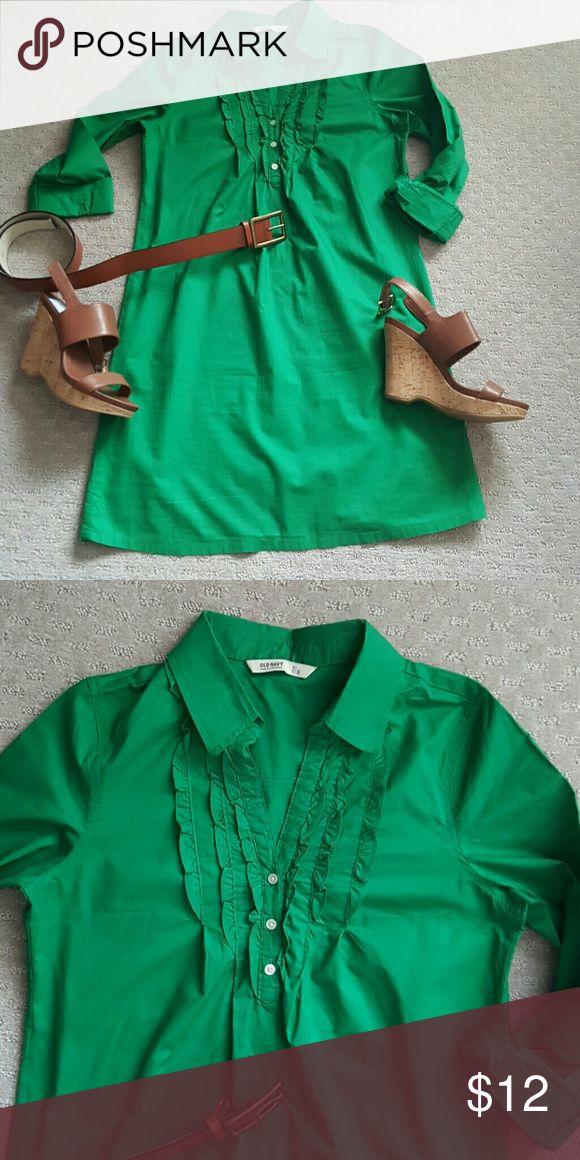 Old navy shirt dress Green shirt dress. Belt not included. Old Navy Dresses Long Sleeve