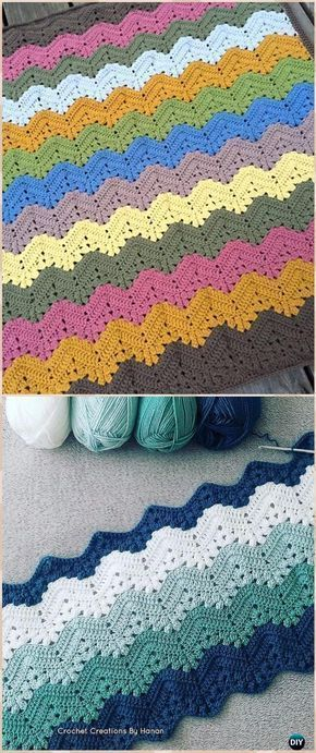 Crochet 6-Day Kid Blanket Free Pattern - Crochet Rainbow Blanket Free Patterns